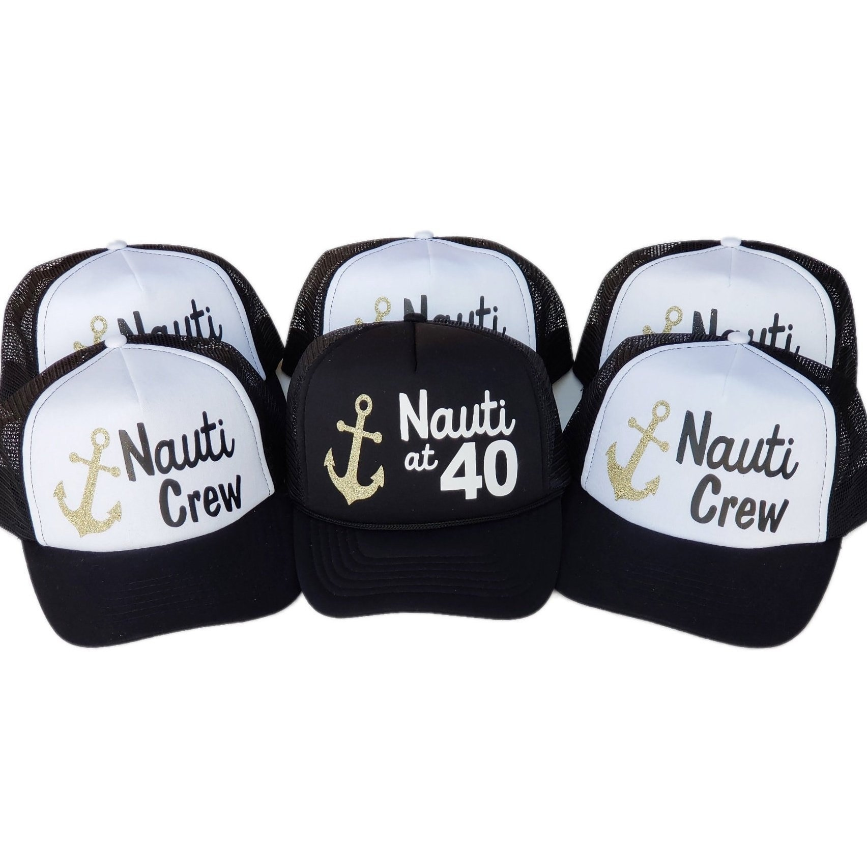 Nauti at 40 Trucker Hats Nauti Hat 40 birthday trucker hats  8ae41c8d3b1