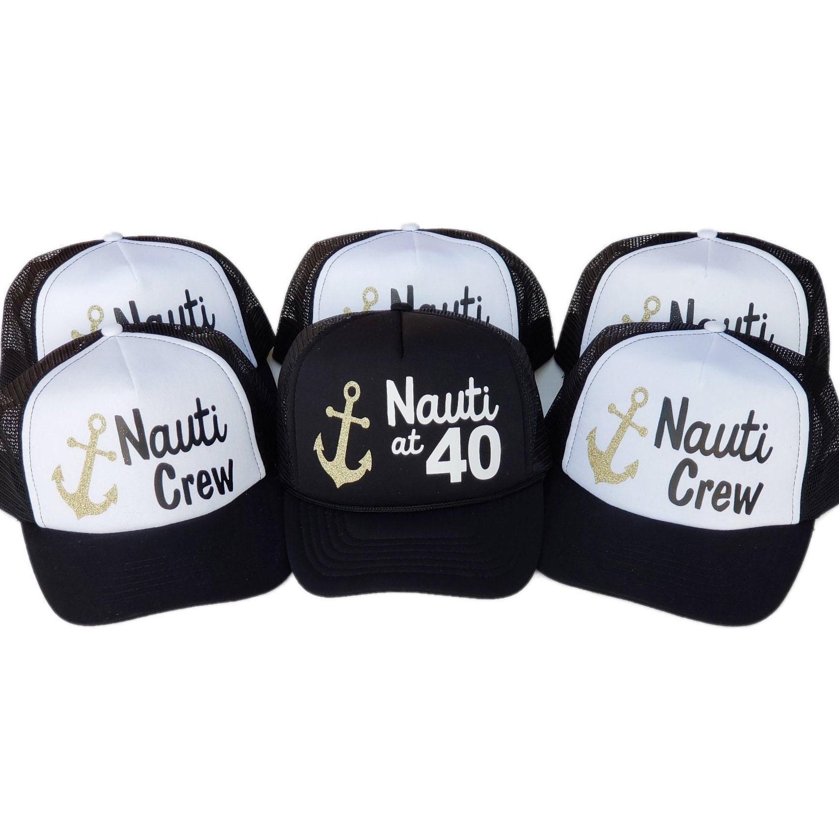Nauti at 40 Trucker Hats Nauti Hat 40 birthday trucker hats  015f0846ed0