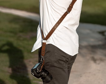 Camera Shoulder Strap Accessories for One Camera - Neck Shoulder Leather Sling - Camera Gear For DSLR/SLR by ProInStyle.