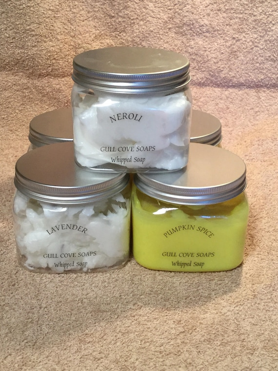 Whipped soaps