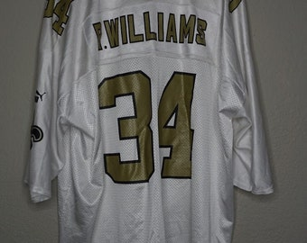 01c33f65c31 Vintage Ricky Williams New Orleans Saints White NFL Jersey Puma Mens size  XL 2XL 34 r williams