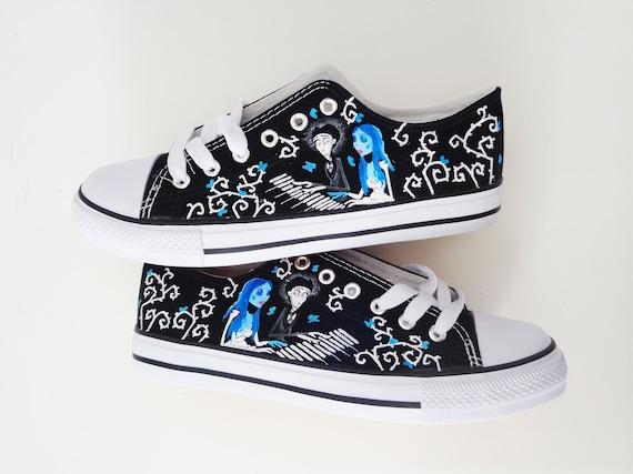 Tim Burton hand painted shoes Corpse bride shoes