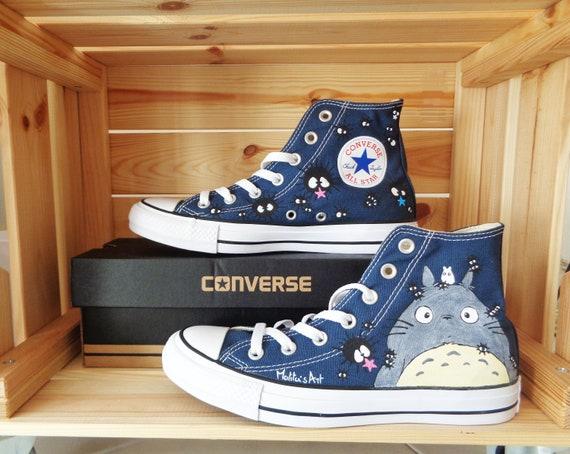 Studio Ghibli Converse hand painted Converse series Custom Converse Totoro Converse