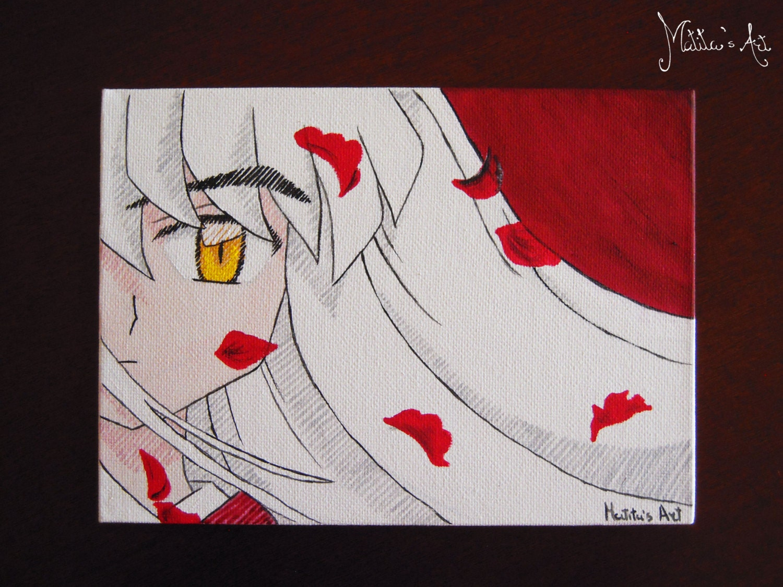 Anime canvas board / Inuyasha canvas / original acrylic   Etsy