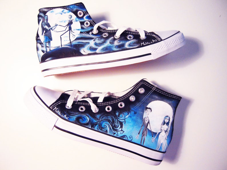 d4459ce501595e Tim Burton hand painted shoes series   Nightmare before