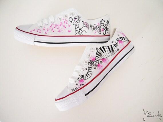 Personnalisé chaussures Animal chaussures chaussures éléphant girafe thème de la musique
