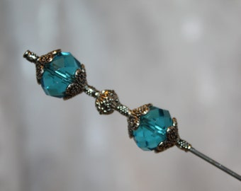 6 Sparkling Crystal Glass Hatpin } Sturdy Steel Stick /& Clutch } New Victorian Derby Easter Scarf Lapel Hat Pin Vintage }{ by Nonny  HP2623