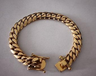 49a1e88b7cd Solid 18K Gold Miami Men's Cuban Curb Link Bracelet 8