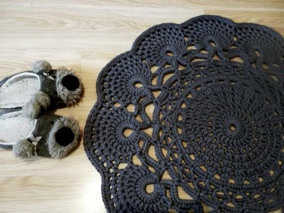 Gehäkelter Teppich häkeln Teppich Muster Deckchen Teppich | Etsy