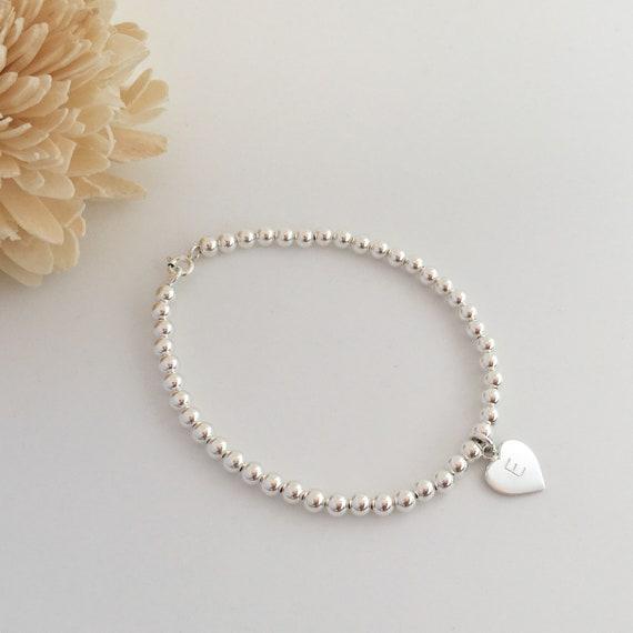 Flower girl bridesmaid personalised girl/'s charm Bracelet