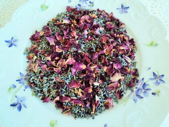 Potpourri Fai Da Te.Roses French Lavender Wedding Confetti Sachets Potpourri Etsy