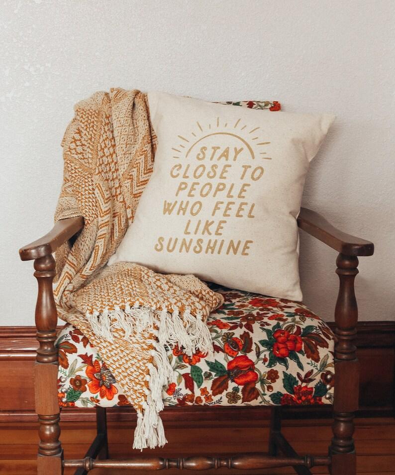 93830b00aede Stay Close to People who Feel like Sunshine Handmade Throw