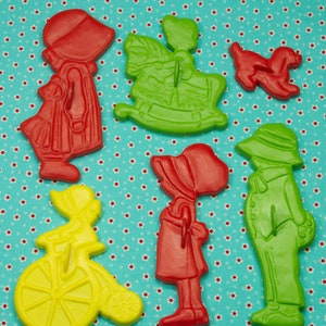 Birthday Play Dough 1990/'s 4 Pc Tesco Sports Plastic Cookie Cutters
