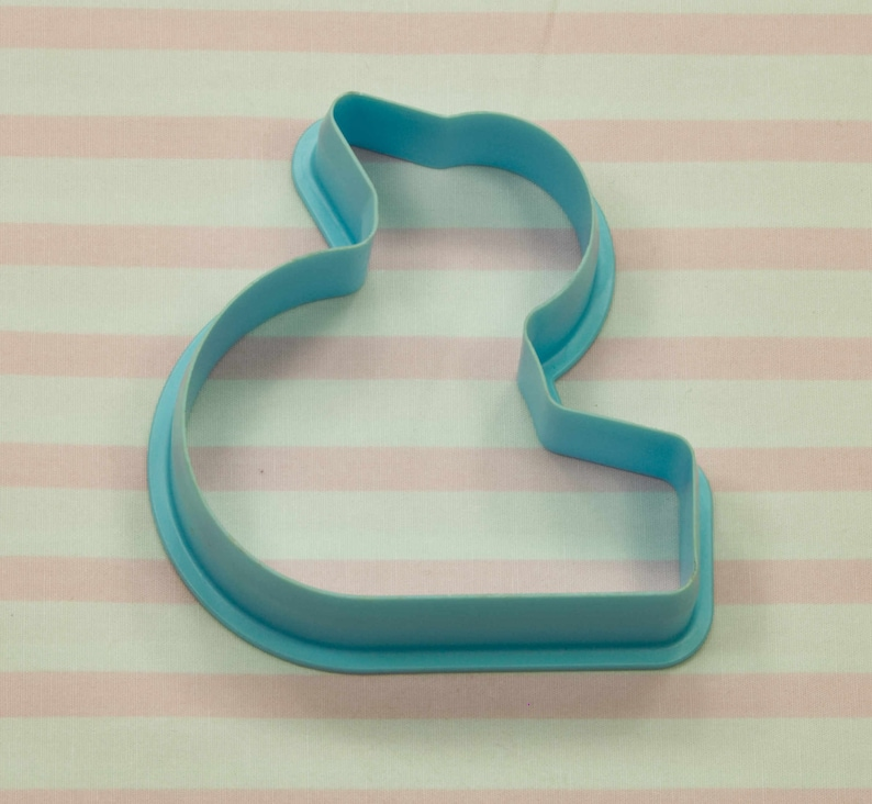 Easter Baby Shower 1980/'s Turquoise Duck Plastic Cookie Cutter