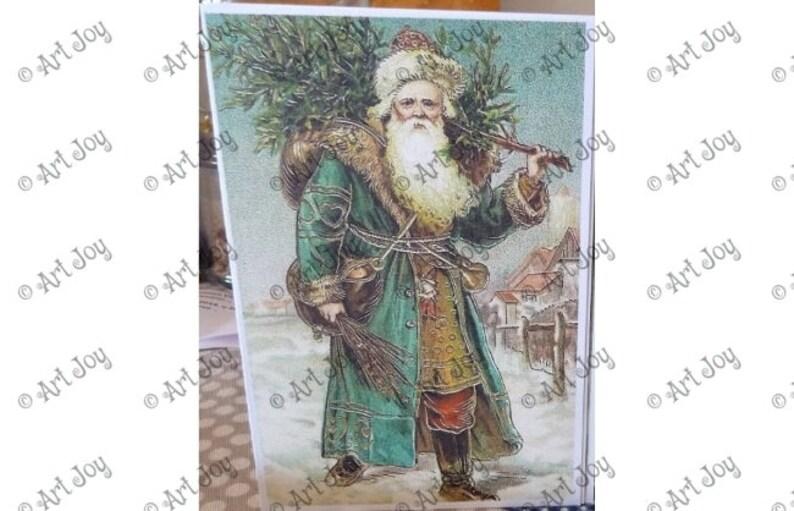 Immagini Natale Vittoriano.Auguri Di Natale Babbo Natale Vittoriano Albero Di Natale Etsy