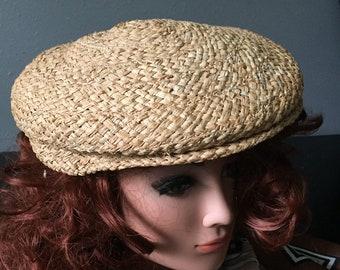 ddfbd7d70e600d Vintage Newsboy Cap Woven Beret Italian Tam Pageboy Hat Tuscan Sun Hat  ReFabulousReVamped ReFabulous