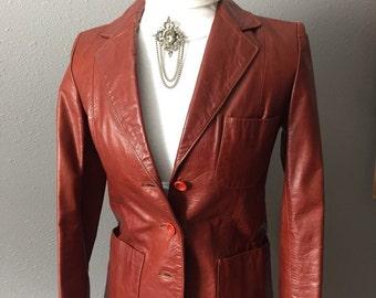 057ec8f938 Vintage Leather Jacket Brown Leather Jacket Leather Car Coat Womens Brown  Leather Jacket ReFabulousReVamped ReFabulous