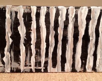 Wall Art, Black and White, Spiritual Journey Art, Reclaimed Wood Art, Original Painting, Ready to Hang Wall Art, Simplistic Desing Art
