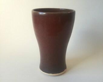 Red stoneware tumbler