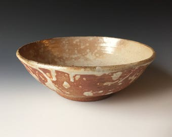 Wood fired stoneware bowl