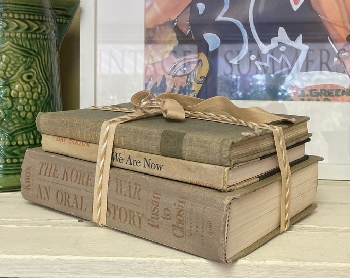 Vintage Gray Book Bundle. Use for home or office or read, office decor, book lover, gray decor, vintage books, library, shelf decor