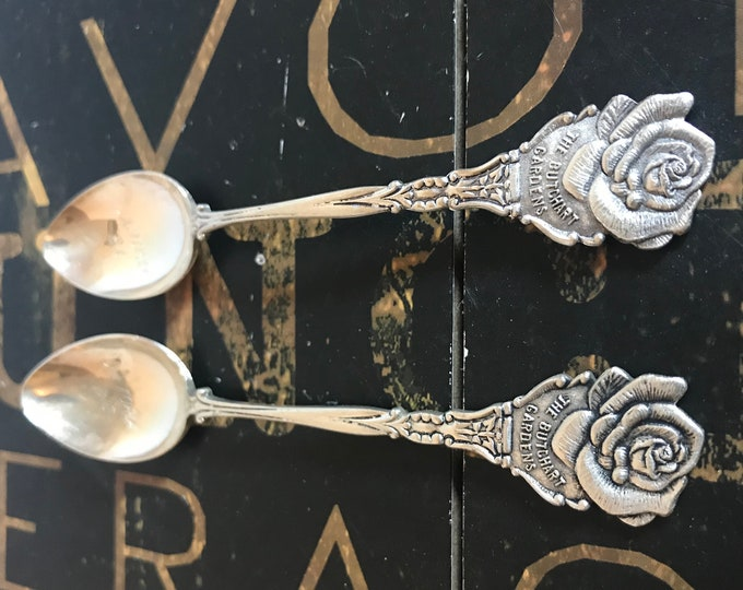 Free US Shipping Souvenir Spoons The Butchart Gardens, Victoria BC, EPNS Electroplated Nickel Silver, Made in Holland, collectible spoon