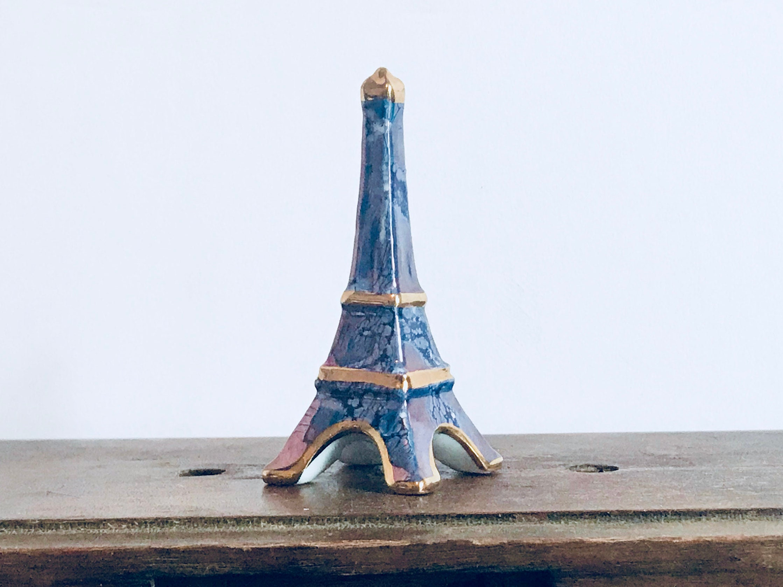 b96a645619 FREE U.S. SHIP Miniature Eiffel Tower Figurine signed Limoges ...
