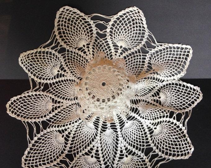 1950s Beautiful Vintage Crocheted Cotton Vase Cover, floral arrangements, cottage chic, shabby chic, lace, home decor, wedding  decor