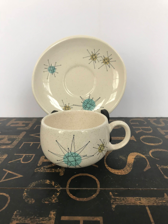 Franciscan Starburst Flat Cup & Saucers, Atomic Design, 1950s ...