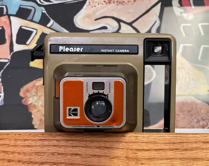 Vintage 1980s Kodak Pleaser Instant Camera,movie prop, Stranger Things, Polaroid, camera collector, photography
