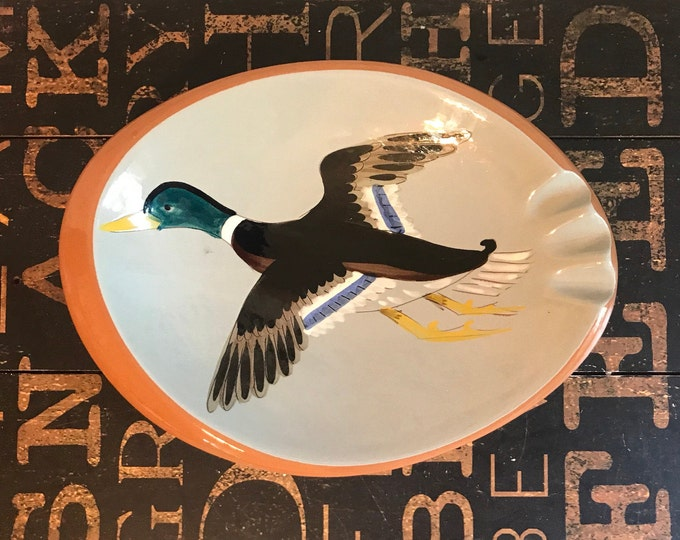 Stangl Pottery Large Duck Ashtray Sportsmen's Giftware, Stanglware, gift for Dad, Father's Day, Gift for Him, Tobacciana, cigar smoker