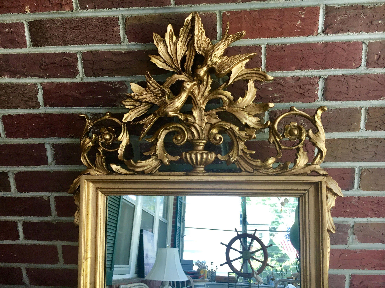 Hollywood Regency Gold Leaf Italian La Barge Mirror Carved