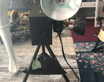 Vintage Camera Table Lamp