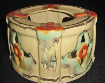 Ceramic Tea Pot Warmer, Candle Powered Tea Warmer, Vintage