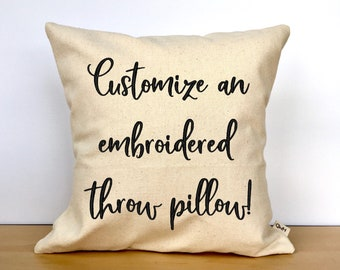 personalized pillow etsy