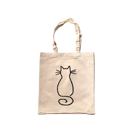 Cat tote bag Cat bag Cat lover gift