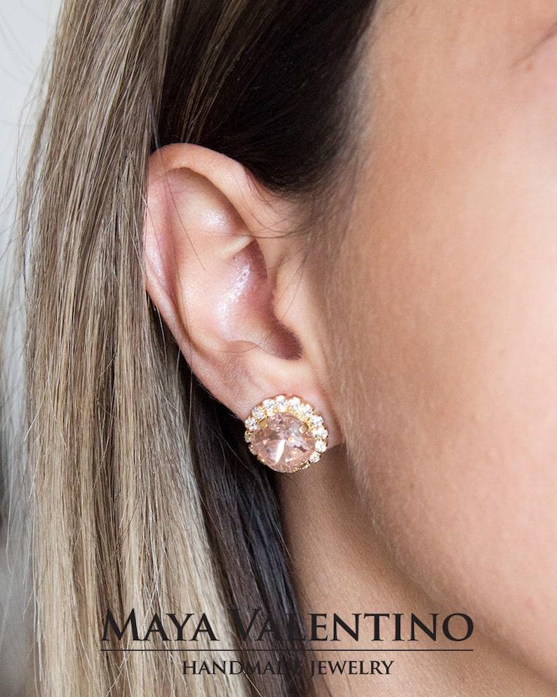 Set of 4 Bridesmaid Purple Amethyst Earrings ES4 Purple Earrings for Bridesmaids Bridesmaid gift Gifts for Bridesmaids