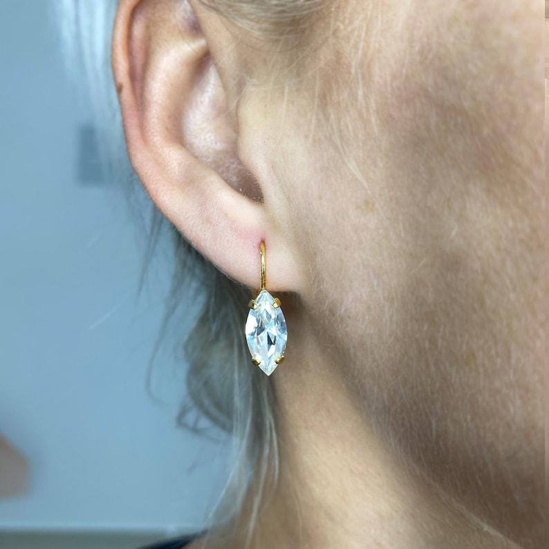 Brown Stone Earrings Boho Earrings Dangle Earrings Brown Crystal Earrings Minimalist Earrings Brown Earrings Brown Jasper Earrings