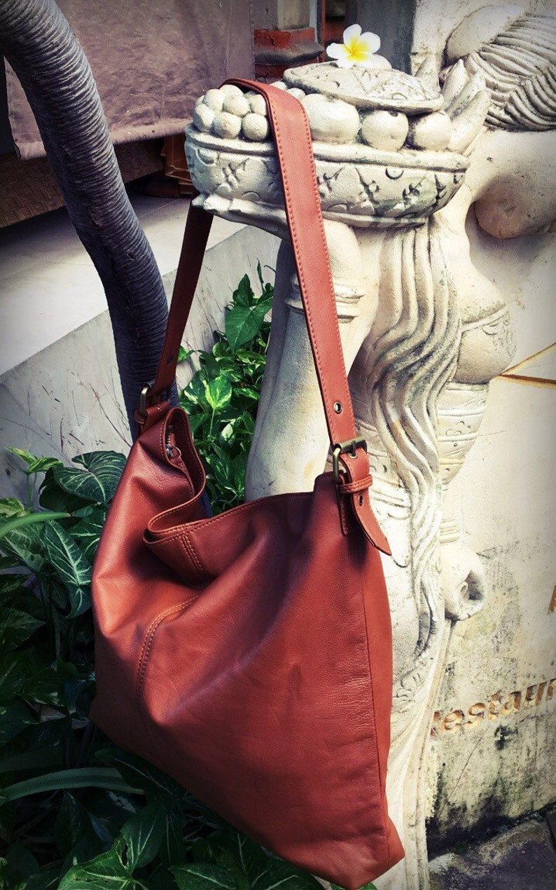 a5c1783a27 Leather shoulder Tote Bag.Simple and stylish with single strap