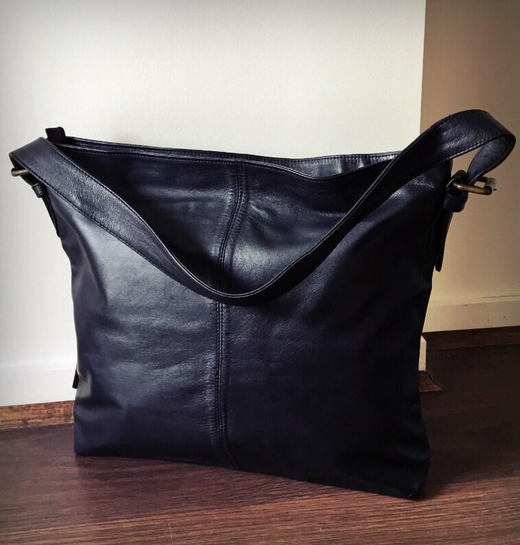 eaf0bfb904 Brown Leather shoulder Tote Bag.Single strap with adjustable belt ...