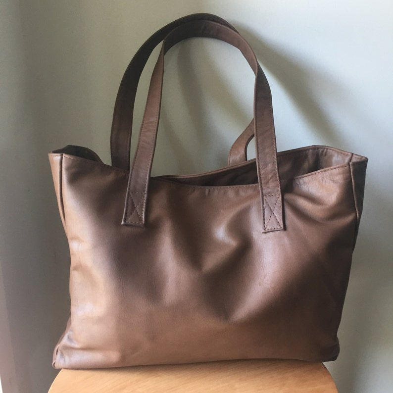 bab630af7a Brown Leather ToteLeather tote bag.Handmade leather toteTote