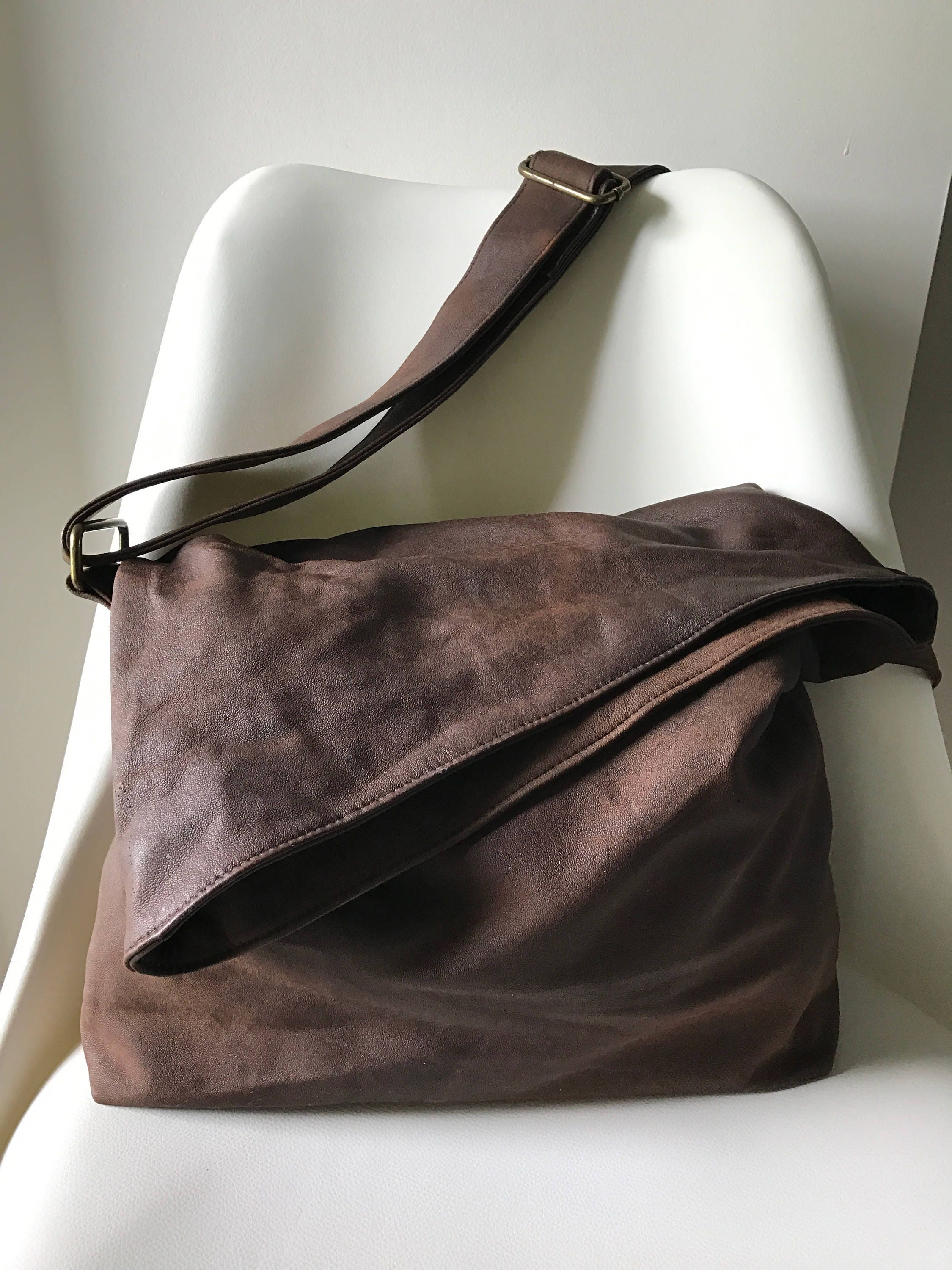 8ee765c061 ... soft leather cross body bag Folding flap over the top with opening  Unique with thick long cross body adjustable strap with slider. gallery  photo gallery ...