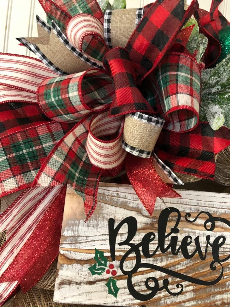 Believe wreath