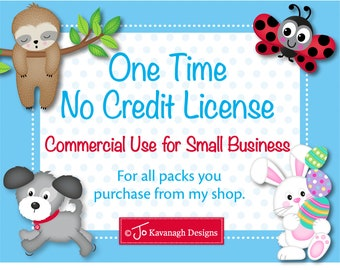 One Time Commercial License, Commercial Use License, No Credit Required License, Clip Art Sets, Digital Stamp Sets, Digital Paper Packs