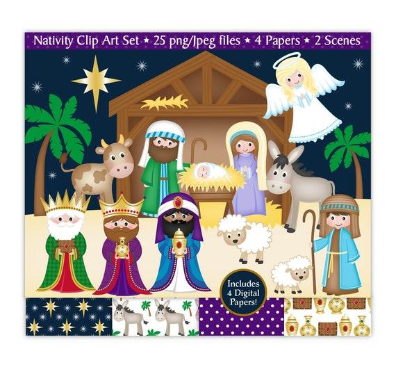 Nativity clipart Nativity clip art Christmas clipart Mary ...