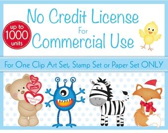 75% OFF Commercial License, No Credit Required License, Commercial Use, Clip Art Sets, Digital Stamp Sets, Digital Paper Packs