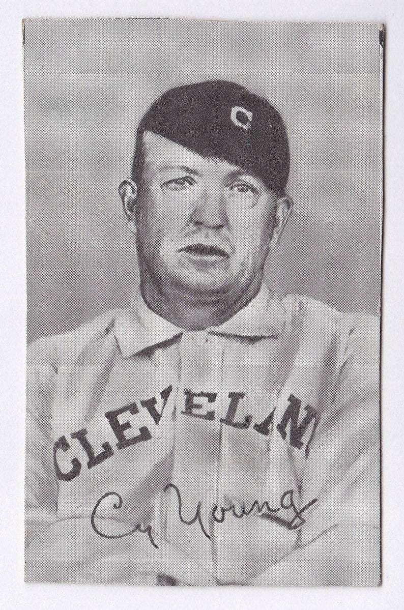 Cy Young 1948 Hall Of Fame Exhibit Baseball Card Trimmed