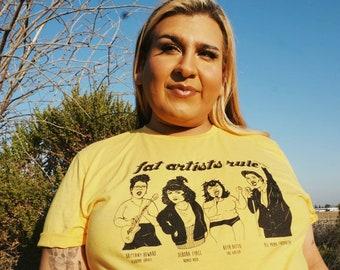 Fat Artists Rule! Tshirt Fat Positive Feminist Shirt Nalgona Positivity Pride T-shirt, Beth Ditto, Brittany Howard, Romeo Void