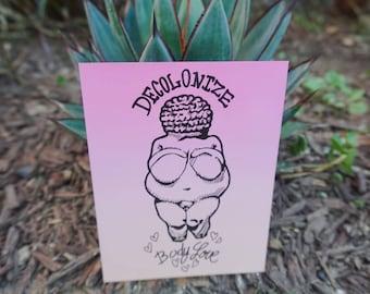 Decolonize Body Love Venus of Willendorf Magnet Fat Positive Magnet Nalgona Positivity Pride