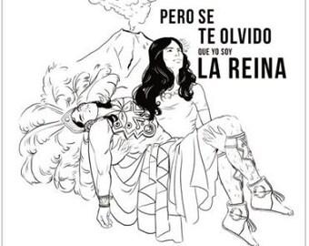 La Reina- Popocatépetl and Iztaccíhuatl Poster